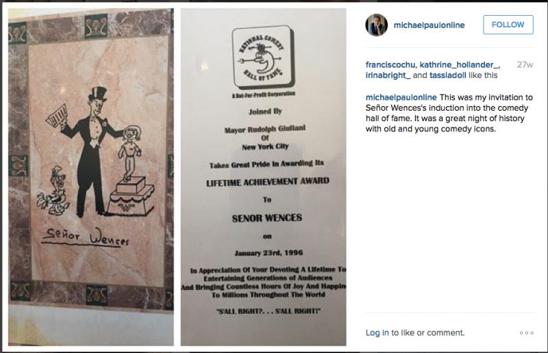 Invitation to the Senor Wences Tribute