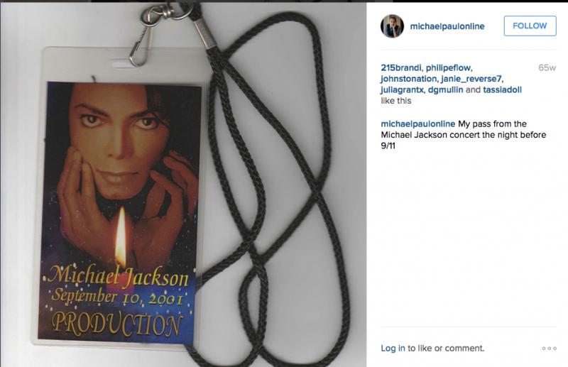 My Michael Jackson press pass