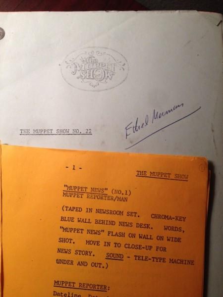 My Original Muppet Script