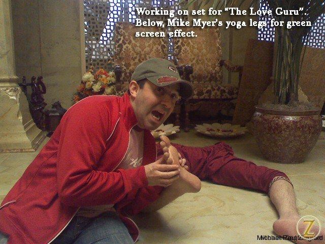 False legs for Mike Myers