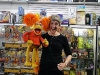 Karen Prell with Red Fraggle