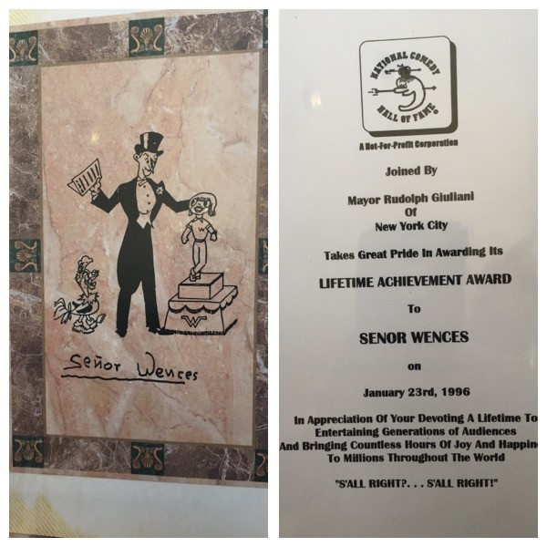 My invitation to Señor Wences's induction into the comedy hall of fame.