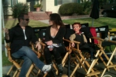 On break for Trigger Street Prods with Kevin Spacey