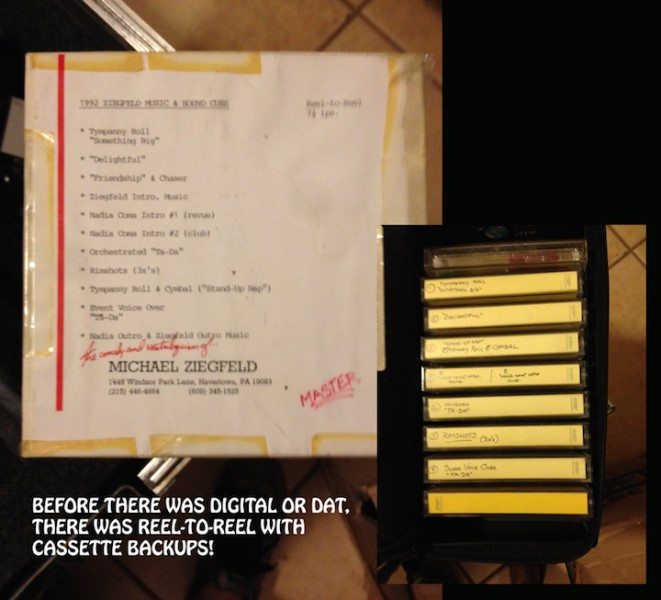 Before digital, cues were on reel-to-reel, backed up on cassette