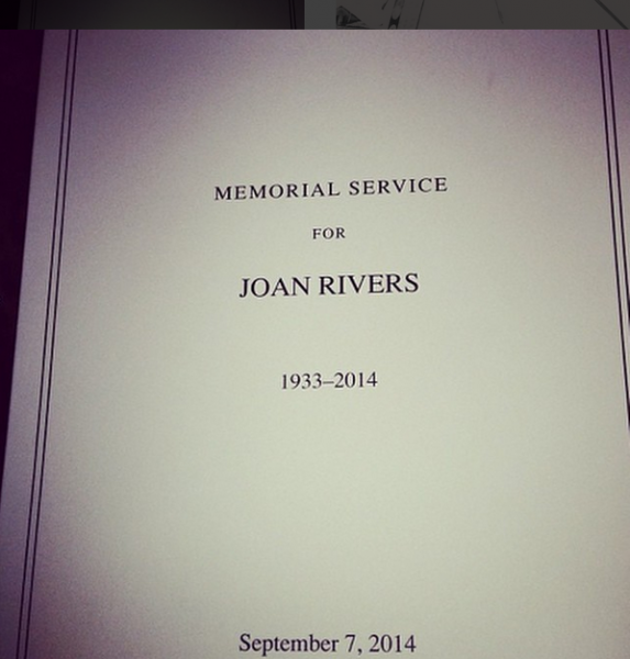 Joan Rivers's funeral program