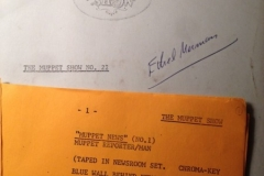 An Original  Muppet Script I was given