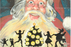 Original, hand painted holiday cards from Caroll Spinney