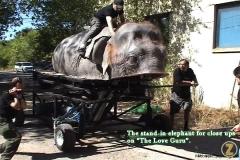 Fake elephant for closeups